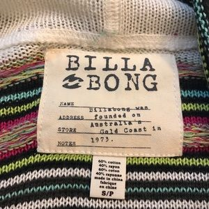 Billabong Sweaters - Stripped cardigan